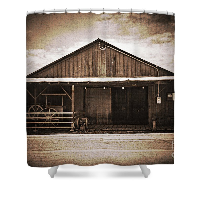Vintage Shower Curtain featuring the photograph Blacksmith Shop by Edmund Mazzola