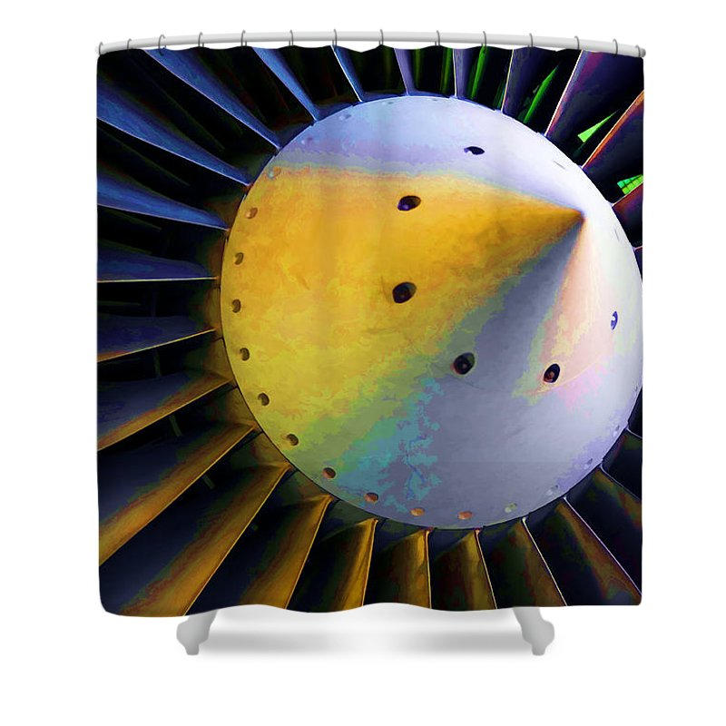 Airplane Shower Curtain featuring the photograph Blades Of Fury by Ricky Barnard