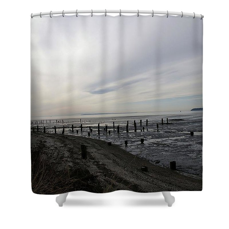 Beaches Shower Curtain featuring the photograph Blaine by Jeff Swan