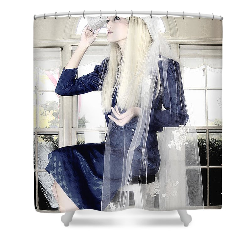 Clay Shower Curtain featuring the photograph Blanco Beauty by Clayton Bruster