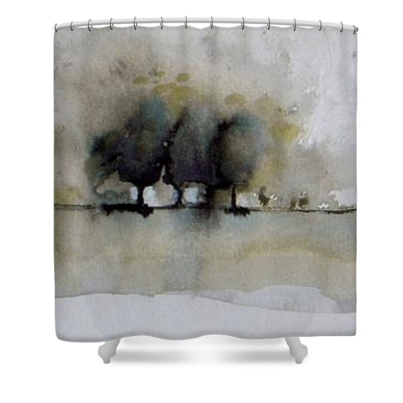 Blast Shower Curtain featuring the painting Blast by Vesna Antic