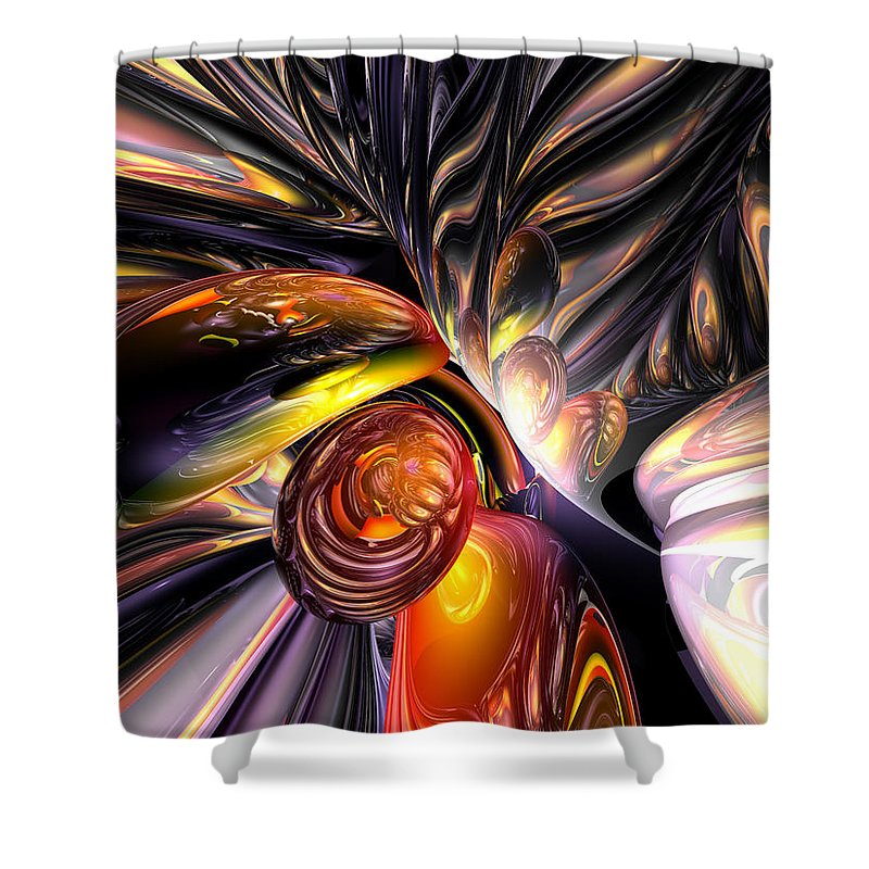 3d Shower Curtain featuring the digital art Blaze Abstract by Alexander Butler