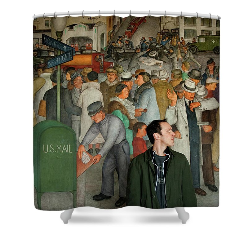 Chris Shower Curtain featuring the photograph Blending In by Greg Fortier