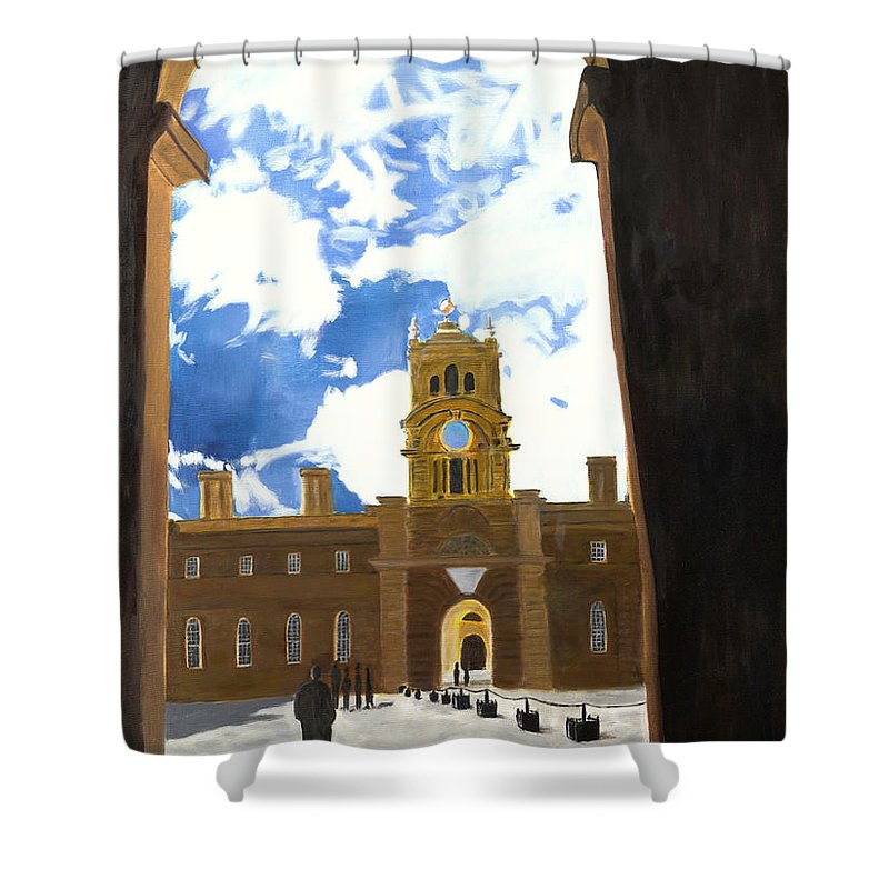 Churchill Shower Curtain featuring the painting Blenheim Palace England by Avi Lehrer