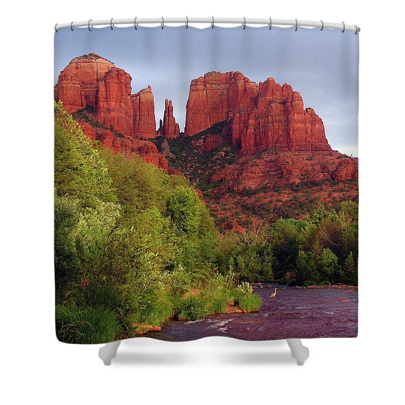 Sedona Shower Curtain featuring the photograph Blessed During The Storm by Gina Janelli