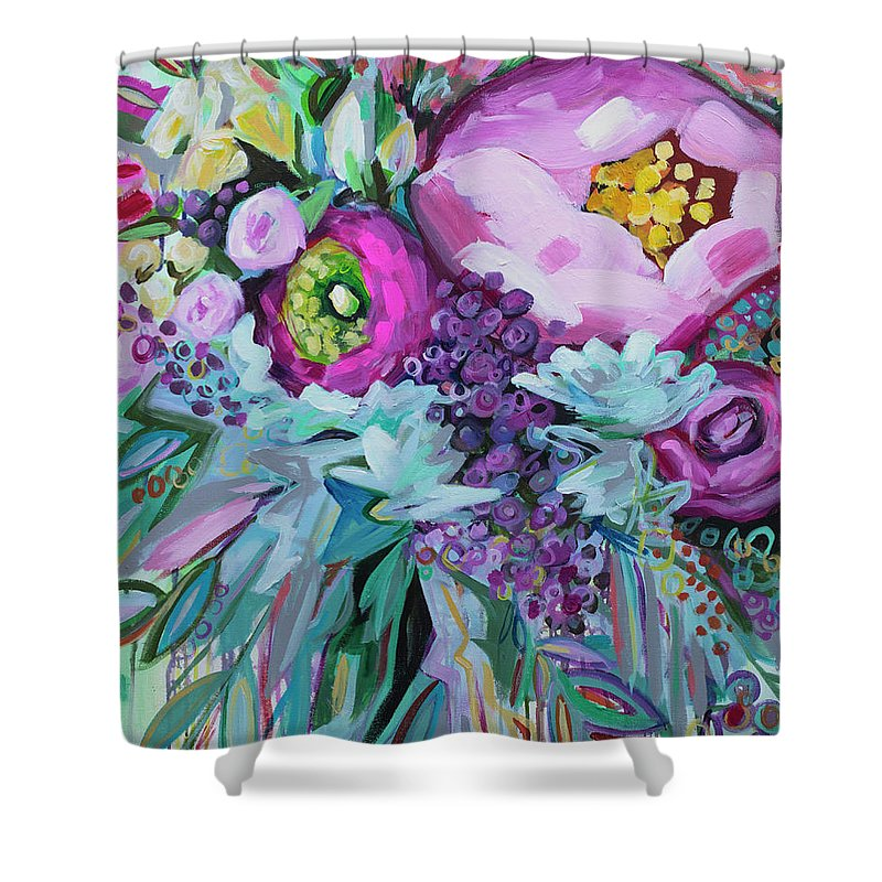 Peony Flowers Shower Curtains
