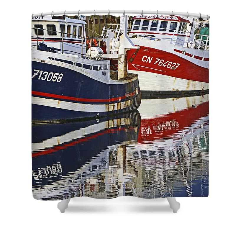 Bateaux Shower Curtain featuring the photograph Bleu Blanc Rouge by Claude Corbin