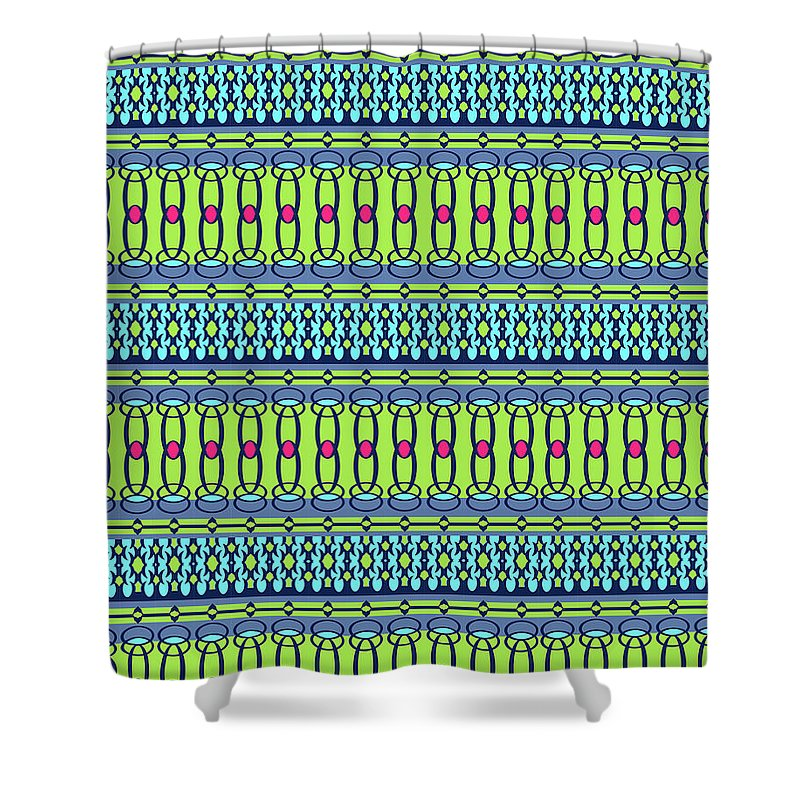 Pattern Shower Curtain featuring the digital art Bling2 by Ceil Diskin