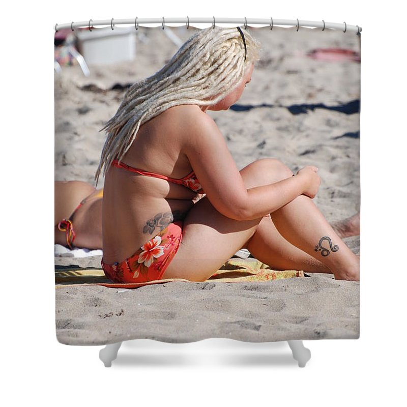 Girls Shower Curtain featuring the photograph Blondie Braids by Rob Hans