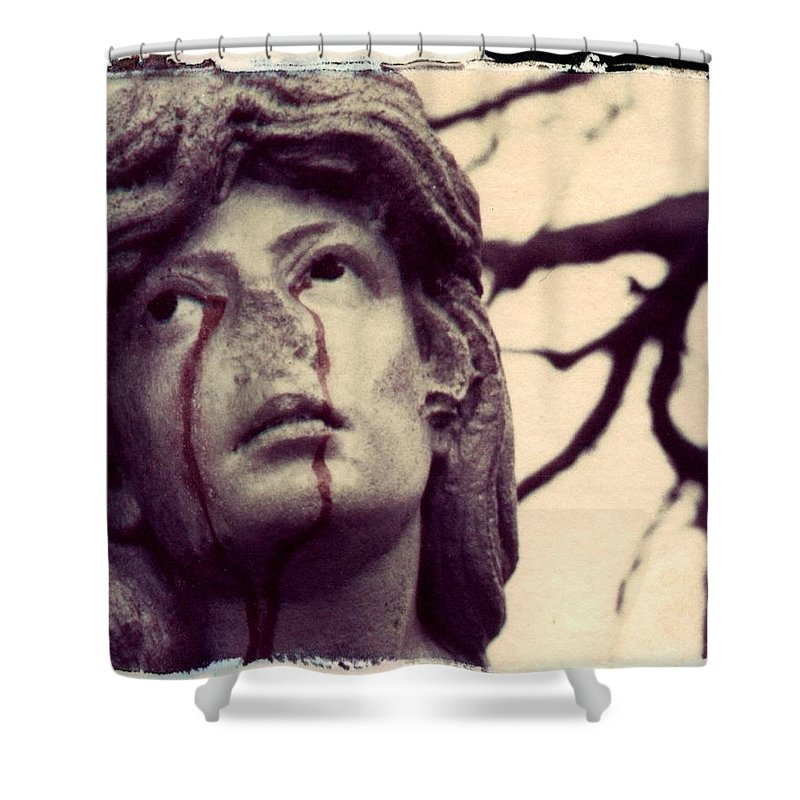 Polaroid Shower Curtain featuring the photograph Blood Is The New Black by Jane Linders