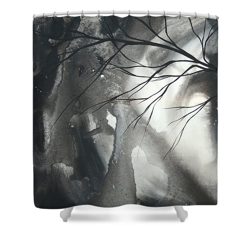 Huge Shower Curtain featuring the painting Blood Of The Moon 1 By Madart by Megan Duncanson