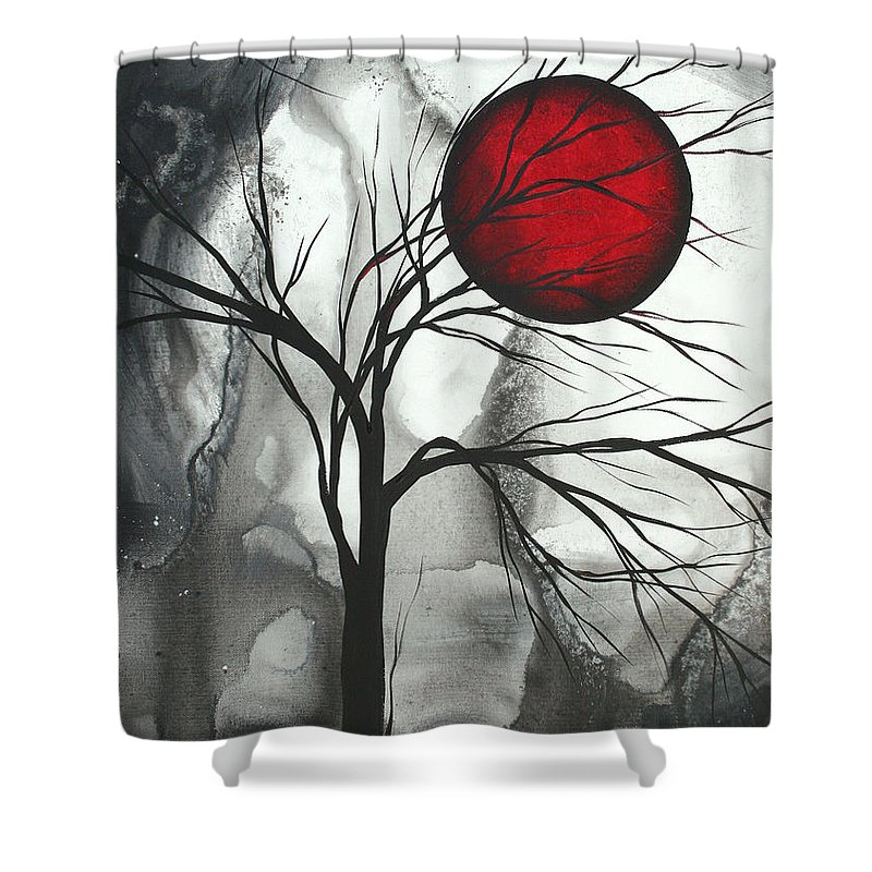Huge Shower Curtain featuring the painting Blood of the Moon 2 by MADART by Megan Duncanson