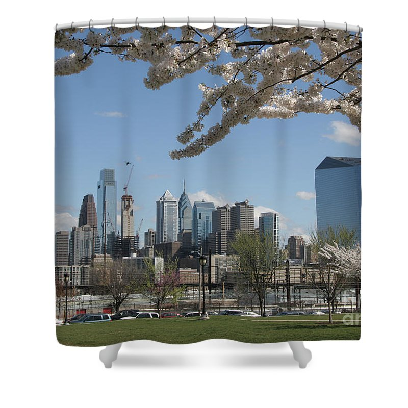 Philadelphia Shower Curtain featuring the photograph Blooming Philadelphia by Clay Cofer