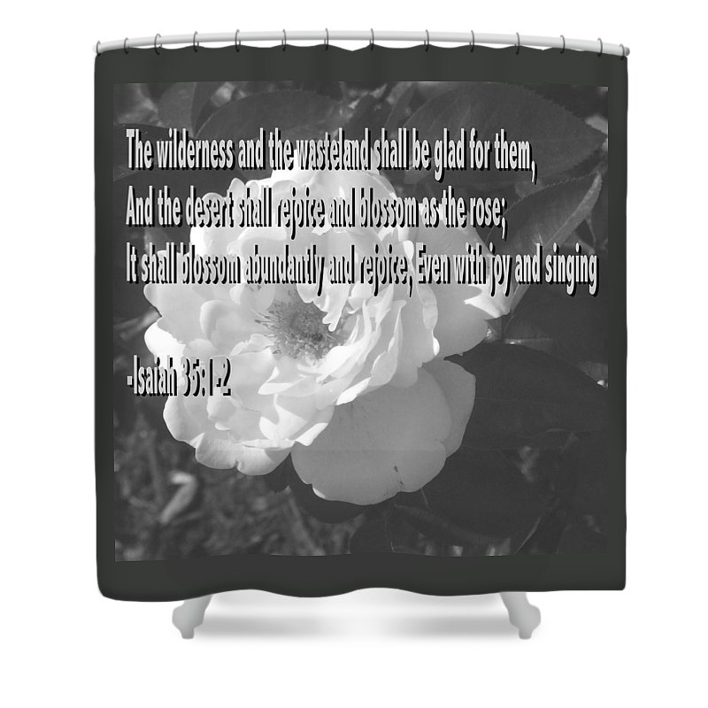 Christian Shower Curtain featuring the photograph Blossom As The Rose by Pharris Art