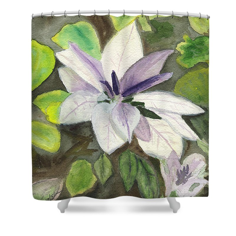 Blossom Shower Curtain featuring the painting Blossom At Sundy House by Donna Walsh