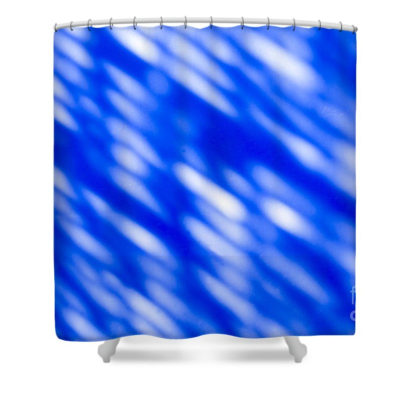 Abstract Shower Curtain featuring the photograph Blue Abstract 1 by Tony Cordoza