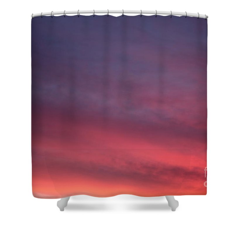 Sunset Shower Curtain featuring the photograph Blue And Orange Sunset by Nadine Rippelmeyer