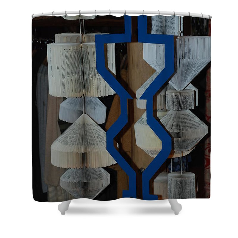 Window Shower Curtain featuring the photograph Blue And White by Rob Hans