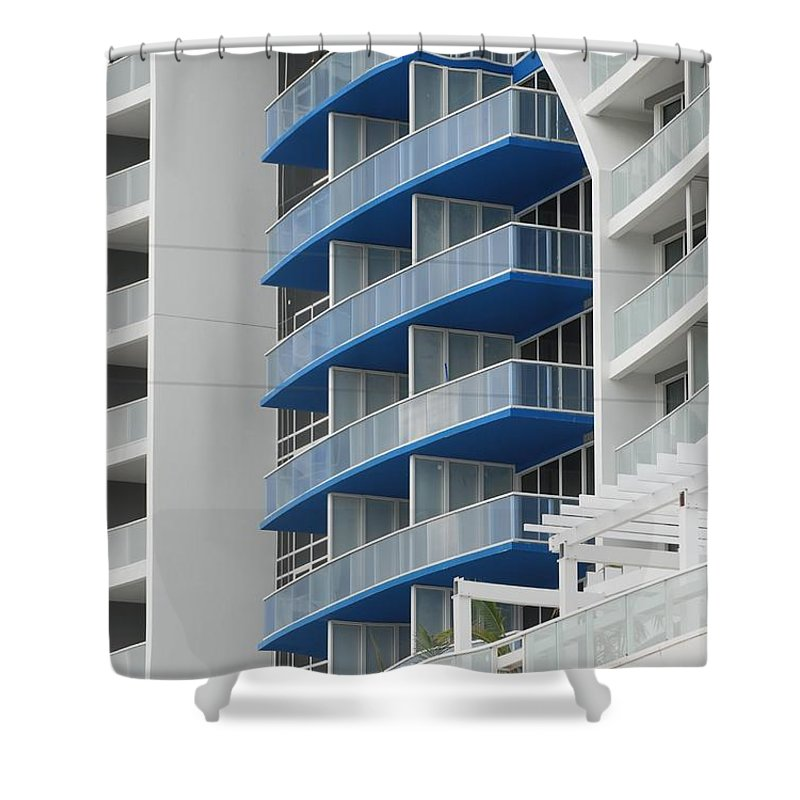 Architecture Shower Curtain featuring the photograph Blue Bayu by Rob Hans