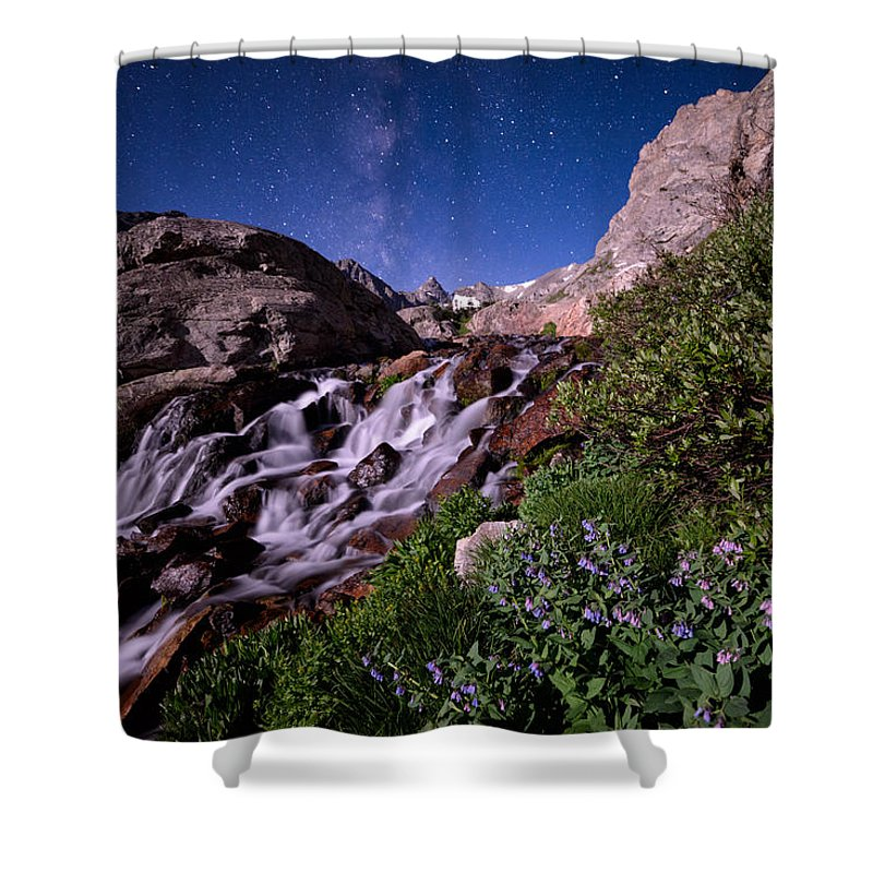 All Rights Reserved Shower Curtain featuring the photograph Blue Bell Falls by Mike Berenson