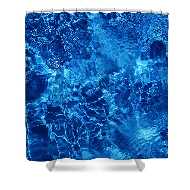 Water Shower Curtain featuring the photograph Blue Blue Water by Jill Reger