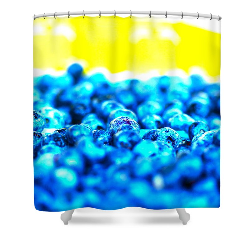 Blue Shower Curtain featuring the photograph Blue Blur by Nadine Rippelmeyer