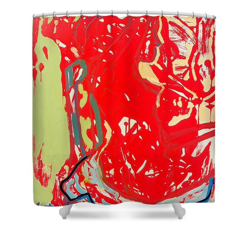 Nude Shower Curtain featuring the painting Blue Chair by Kurt Hausmann