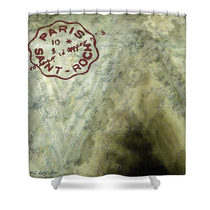 Blue Cheese Shower Curtain featuring the painting Blue Cheese Wheel by RC DeWinter