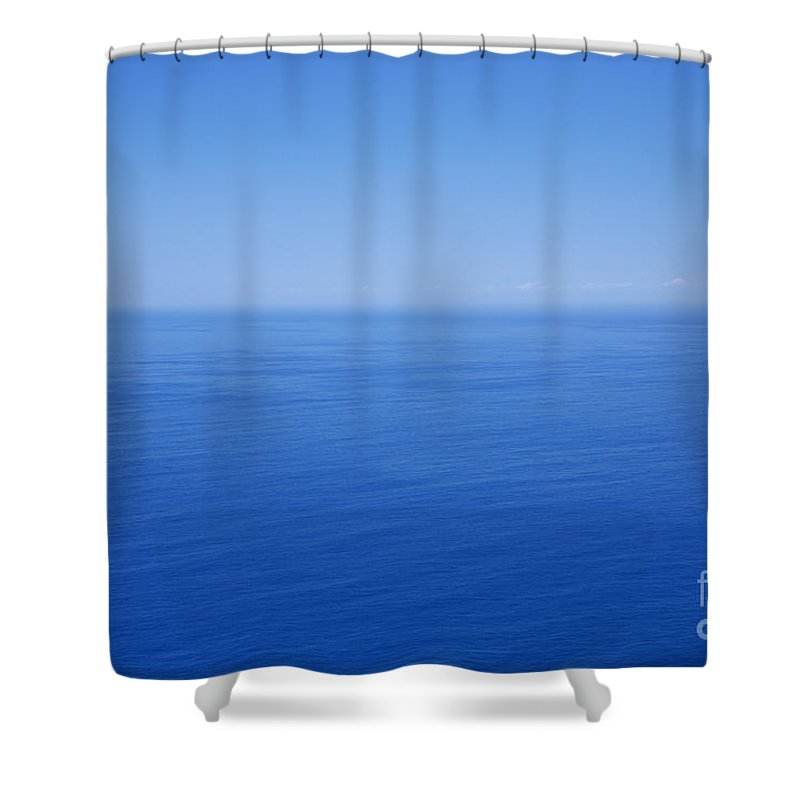 Tranquility Shower Curtain featuring the photograph Blue Horizon by Gaspar Avila