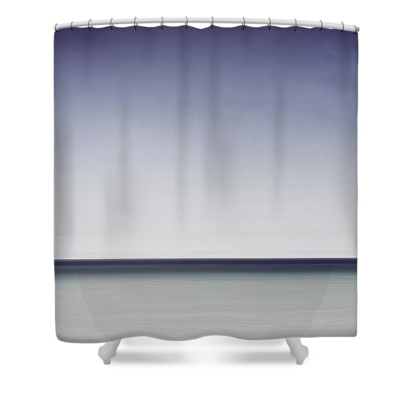 Horizon Shower Curtain featuring the photograph Blue Horizon by Scott Norris