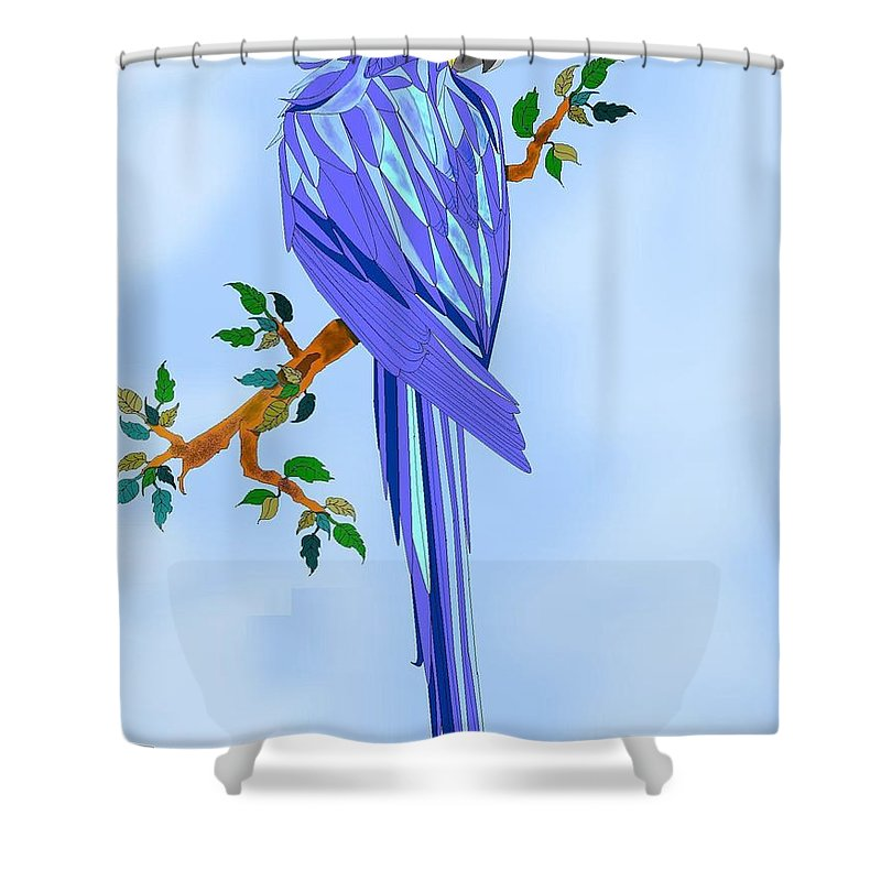 Blue Bird Shower Curtain featuring the painting Blue Hyacinth by Anne Norskog