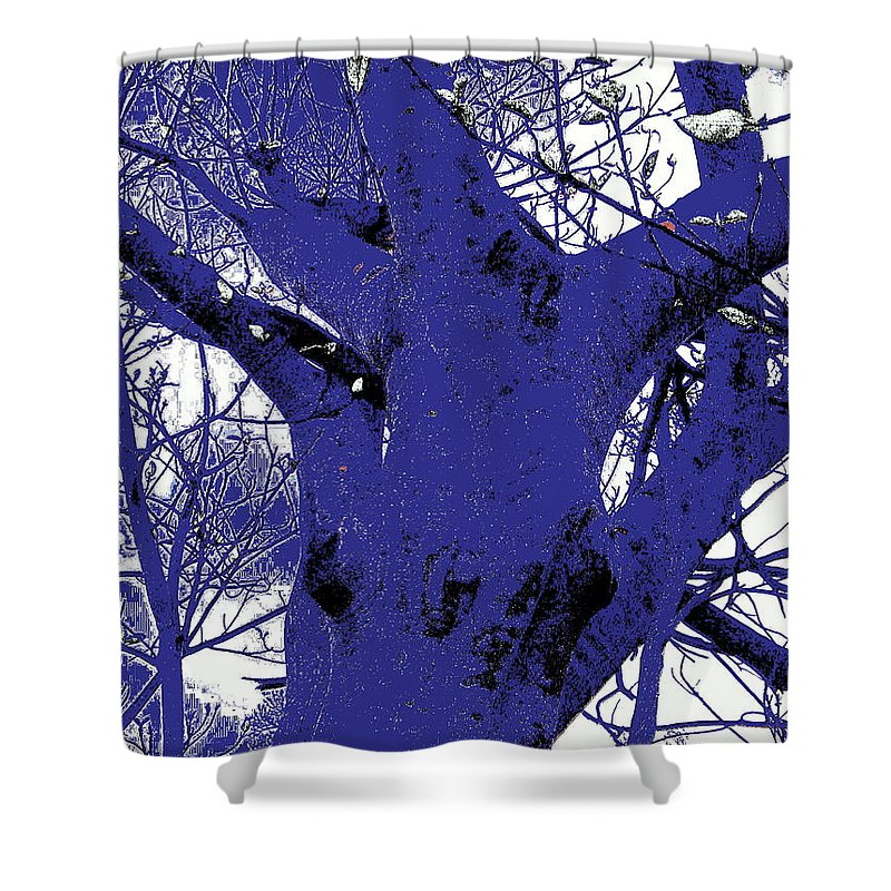 Landscape Shower Curtain featuring the photograph Blue Ice by Ed Smith