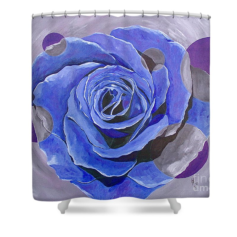 Acrylic Shower Curtain featuring the painting Blue Ice by Herschel Fall