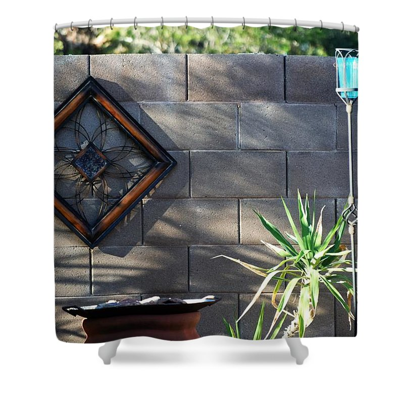 Blue Shower Curtain featuring the photograph Blue by John Glass
