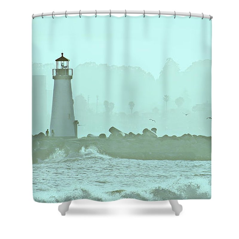 Blue Shower Curtain featuring the photograph Blue Mist 3 by Marilyn Hunt