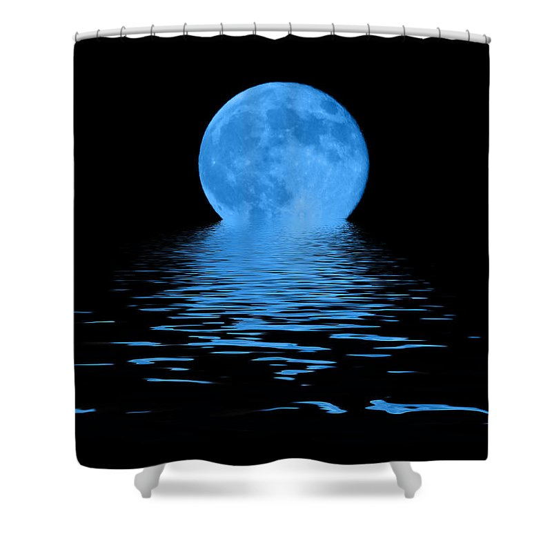 Blue Moon Shower Curtain featuring the photograph Blue Moon by Shane Bechler