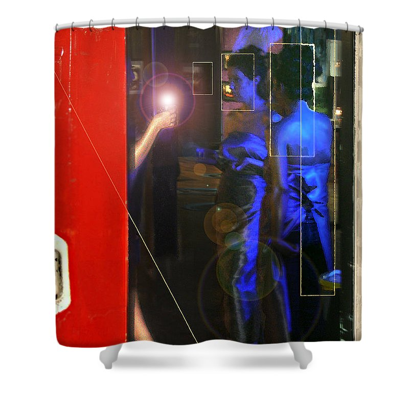 Female Figures Shower Curtain featuring the photograph Blue Muses by Steve Karol