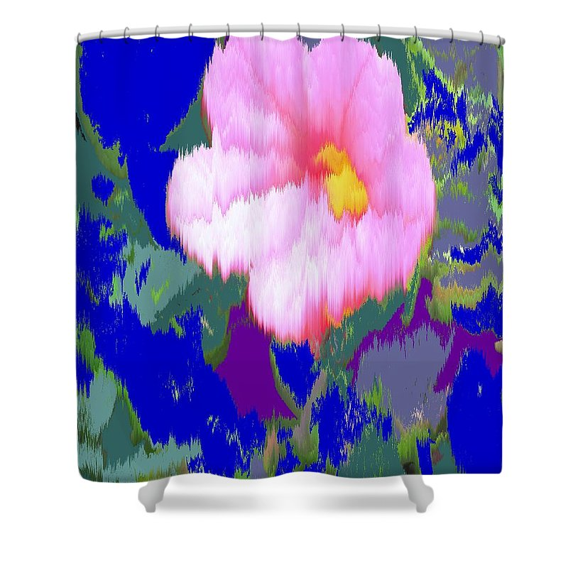 Flower Shower Curtain featuring the photograph Blue Pink by Ian MacDonald