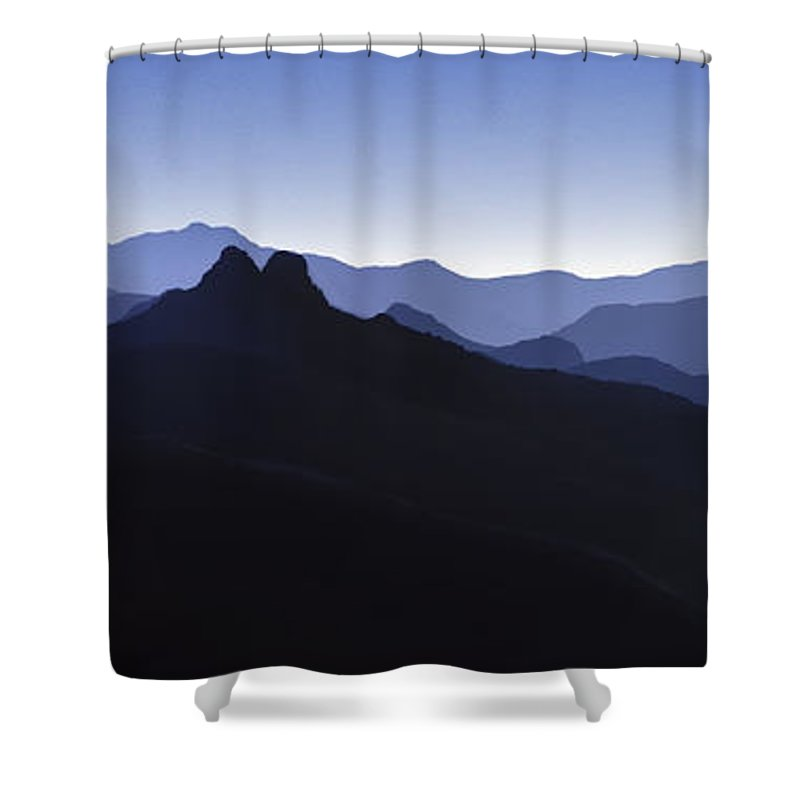 Blue Ridge Mountains Shower Curtain featuring the photograph Blue Ridge Mountains. Pacific Crest Trail by David Zanzinger