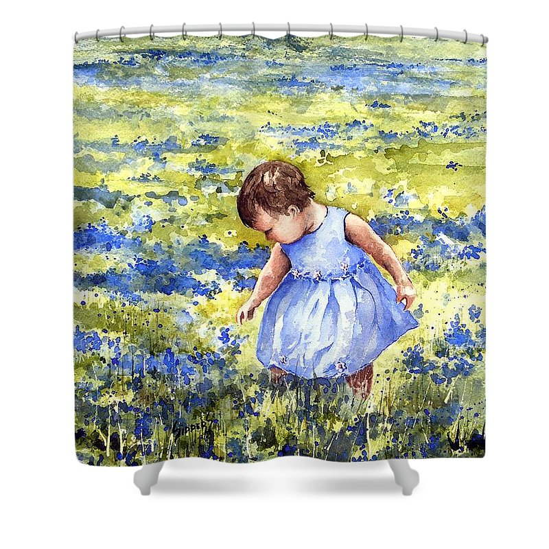 Blue Shower Curtain featuring the painting Blue by Sam Sidders
