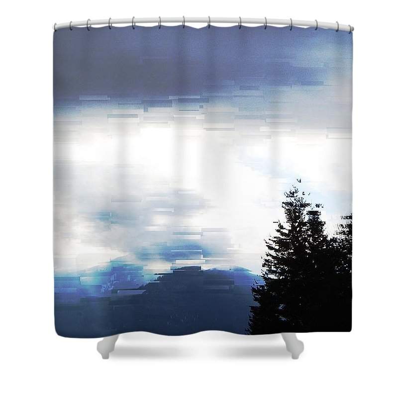 Skies Shower Curtain featuring the photograph Blue Skies by Jeff Swan