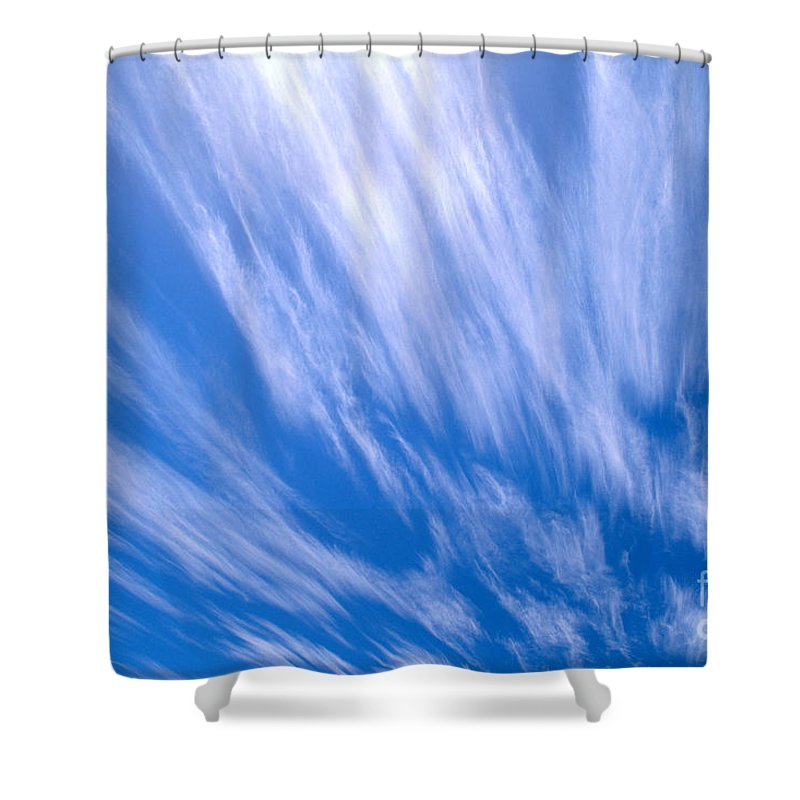 Active Shower Curtain featuring the photograph Blue Sky by Peter French - Printscapes