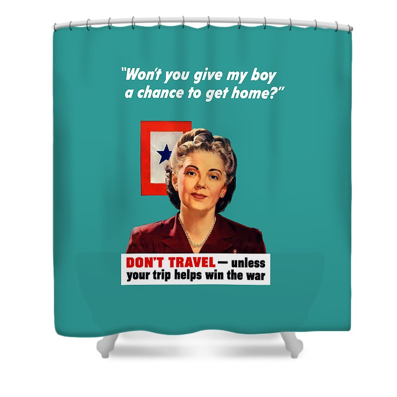 Blue Star Mother Shower Curtain featuring the painting Blue Star Mother -- Ww2 by War Is Hell Store