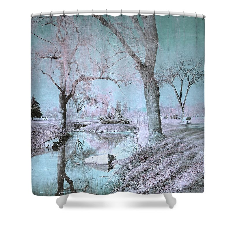 Trees Shower Curtain featuring the photograph Blue Sunday by Tara Turner