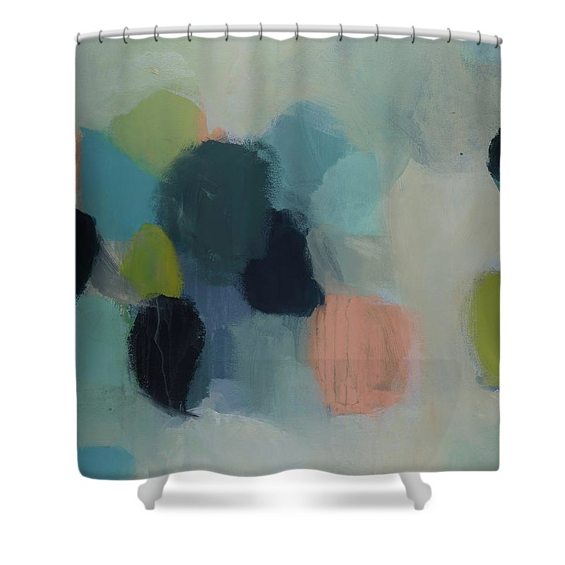 Abstract Painting Shower Curtain featuring the painting Blue Vision by Kml Mtz