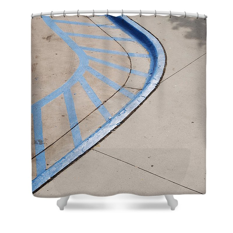 Blue Shower Curtain featuring the photograph Blue Zone by Rob Hans
