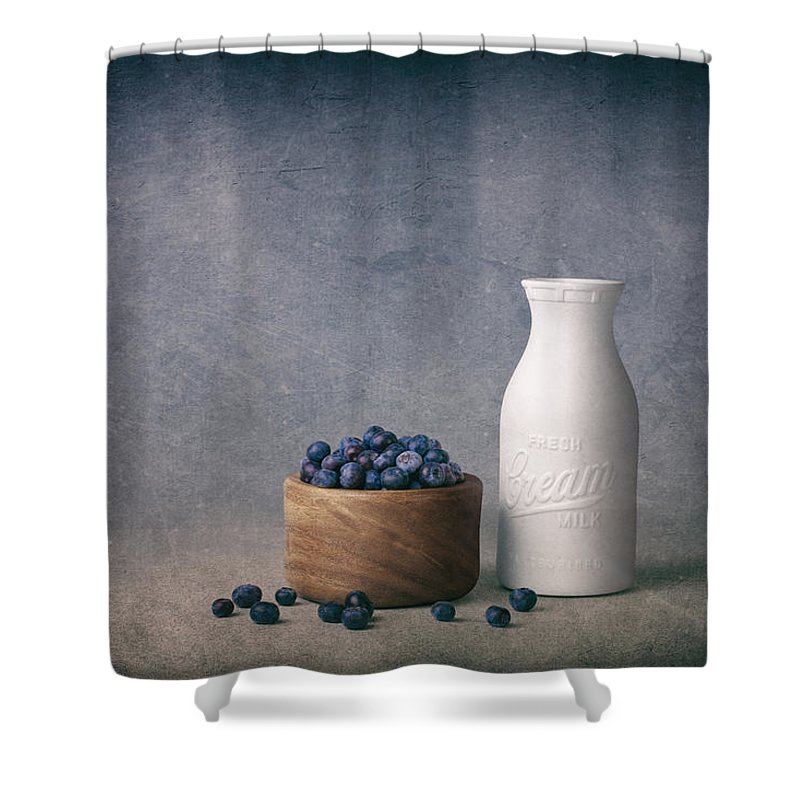 Abundance Shower Curtain featuring the photograph Blueberries and Cream by Tom Mc Nemar