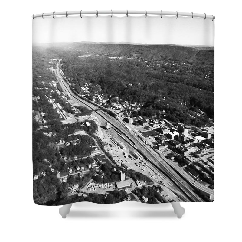 Bluefield Shower Curtain featuring the photograph Bluefield by Jacob Carden