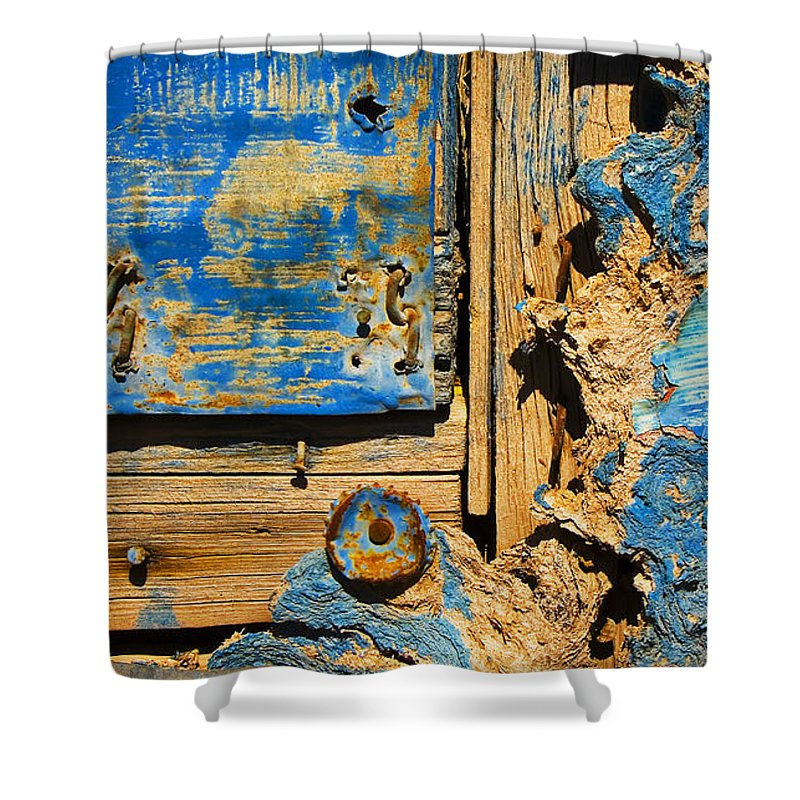 Abstract Shower Curtain featuring the photograph Blues Dues by Skip Hunt