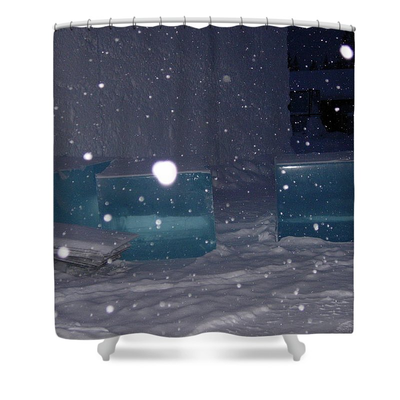 Color Blue Shower Curtain featuring the photograph Blues by Maria Joy